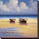 Restful Moorings Stretched Canvas Print by David Short