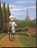 The Road to Paris Stretched Canvas Print by Bryan Ubaghs