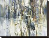 Keeper of the Pond Stretched Canvas Print by Brent Heighton