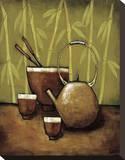Bamboo Tea Room II Reproducción en lienzo de la lámina por Krista Sewell