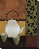 Sakura Tea II Stretched Canvas Print by Krista Sewell