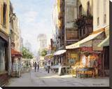 Marche Parisien Stretched Canvas Print by George W. Bates