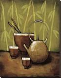 Bamboo Tea Room II Leinwand von Krista Sewell