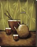 Bamboo Tea Room II Reproduction transférée sur toile par Krista Sewell