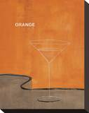 Orange Martini Stretched Canvas Print by Mark Pulliam