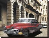 Cuban Cars I Stretched Canvas Print by C. J. Groth