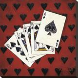 Royal Flush Stretched Canvas Print by Will Rafuse