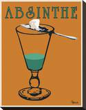 Absinthe Stretched Canvas Print by Lee Harlem