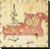 Crazy Chaise I Stretched Canvas Print by Elizabeth Jardine