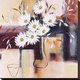 Daisy Impressions I Stretched Canvas Print by Natasha Barnes