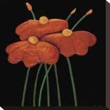 Petite Orange Stretched Canvas Print by Jocelyne Anderson-Tapp