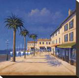 Seaside Promenade II Stretched Canvas Print by David Short