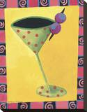 Cocktail Whimsy II Stretched Canvas Print by Kathryn Fortson