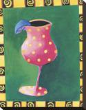 Cocktail Whimsy I Stretched Canvas Print by Kathryn Fortson