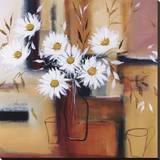 Daisy Impressions II Stretched Canvas Print by Natasha Barnes