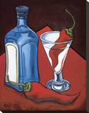 Cajun Martini Stretched Canvas Print by Will Rafuse