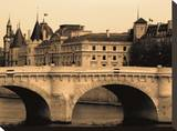 Pont Neuf Stretched Canvas Print by Marina Drasnin Gilboa