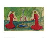 Dance Around the Fountain Reproduction procédé giclée par Auguste Macke