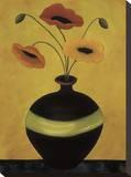 Poppy Flirtation II Stretched Canvas Print by Krista Sewell