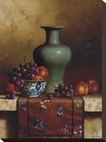 Oriental Still Life II Stretched Canvas Print by Loran Speck