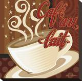 Cafe au Lait Stretched Canvas Print by P.j. Dean
