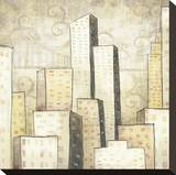 Urban Monograph I Stretched Canvas Print by Marcus Collins