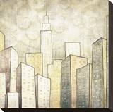 Urban Monograph II Stretched Canvas Print by Marcus Collins
