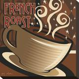 French Roast Stretched Canvas Print by P.j. Dean