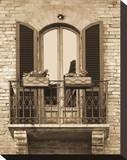 Italian Moments I Stretched Canvas Print by Boyce Watt