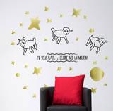 Le Petit Prince - Dessine-moi un mouton 1 Adhésif mural