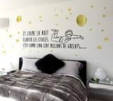 Le Petit Prince - Écouter les étoiles Autocollant mural