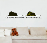 Le Petit Prince - Le plus important est invisible Muursticker