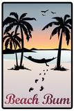 Beach Bum Hammock Between Palm Trees Poster Prints