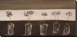 Fleurs dans un Vase Stretched Canvas Print by Mandy Mclean