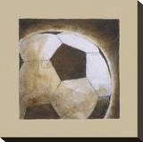 Play Hard I Stretched Canvas Print by Andrea Stajan-ferkul