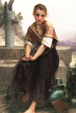 William-Adolphe Bouguereau The Broken Pitcher Poster Posters by William Adolphe Bouguereau