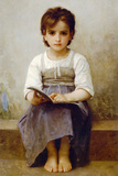 William-Adolphe Bouguereau The Difficult Lesson Art Print Poster Poster by William Adolphe Bouguereau