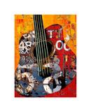 '58 Guitar Print by Daryl Thetford
