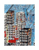Blue, Black and White Cityscape Prints by Daryl Thetford