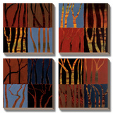 Red Trees II Prints by Gail Altschuler