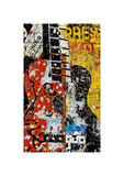 Graffiti Guitar Print by Daryl Thetford