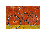 Gold and Orange Bike Art by Daryl Thetford