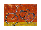 Gold and Orange Bike Posters by Daryl Thetford