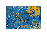 Blue Graffiti Bike Art by Daryl Thetford