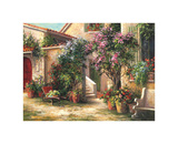 Garden Courtyard Prints by Art Fronckowiak