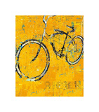 Gold Bike Poster by Daryl Thetford