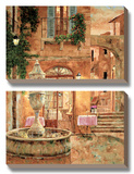 Evening At the Fountain Prints by Gilles Archambault