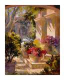 Flowered Courtyard Posters by Betty Carr