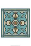 Piazza Tile in Blue II Posters by Erica J. Vess