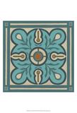 Piazza Tile in Blue III Prints by Erica J. Vess
